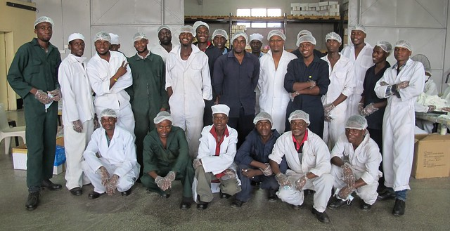 The Kit Yamoyo assembly team at Pharmanova