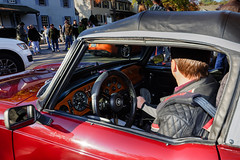 TR6 at Katie's Cars and Coffee