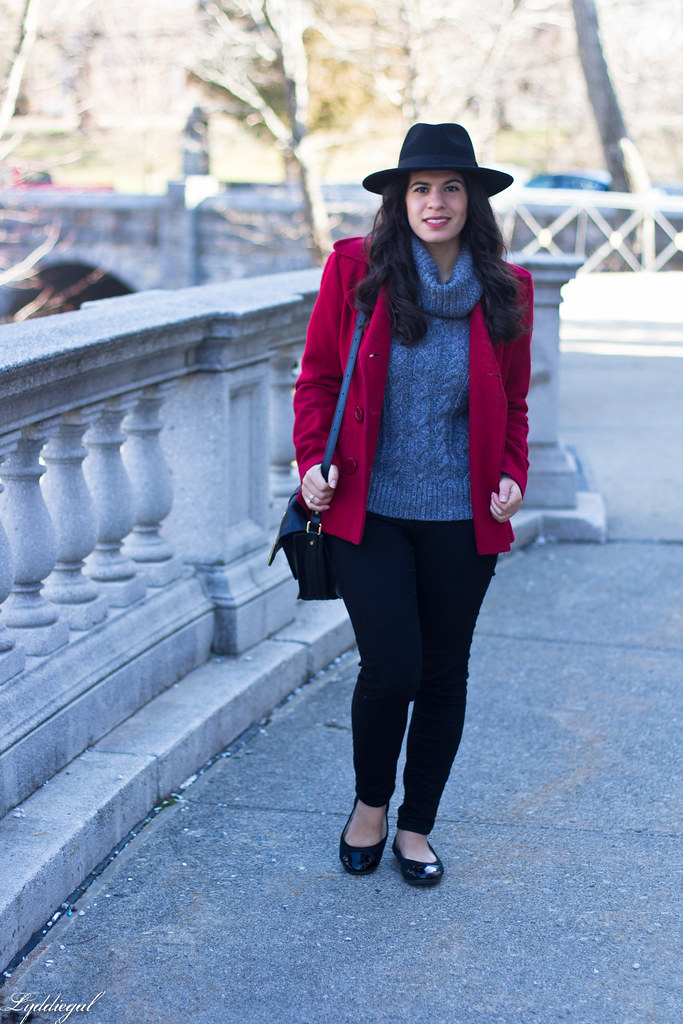 grey sweater, black denim, red peacoat, fedora-1.jpg