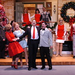 I'll Be Home for Christmas 2016, Credit P. Switzer Photography - Foreground L-R Megan Van De Hey (Louise Bright), Kim McClay (Maggie Bright), Noah Racey (Dana Bright) and Jake Mendes (Simon Bright)