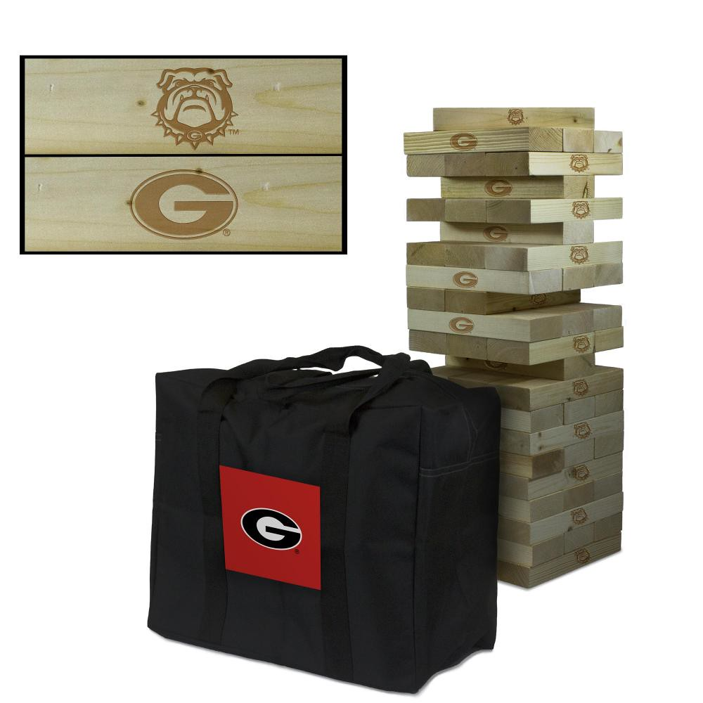 Georgia Bulldogs Wooden Tumble Tower Game