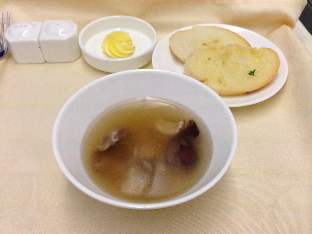Soup during meal service
