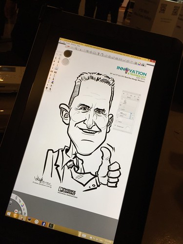digital live caricature for Innovation & Technology Day 2015