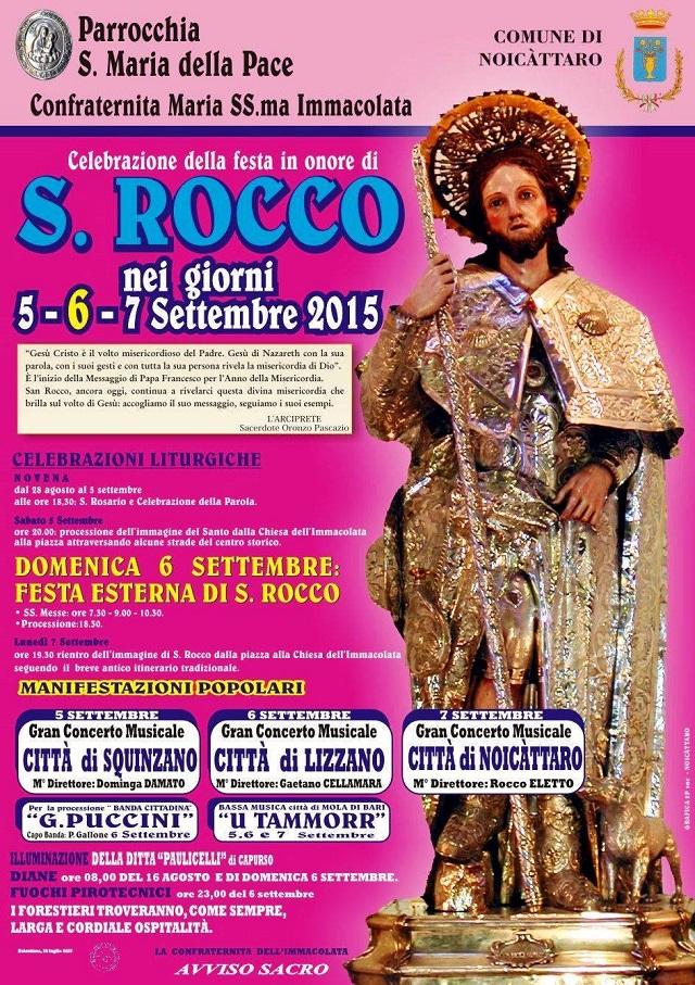 Noicattaro. Festa San Rocco 2015 intero