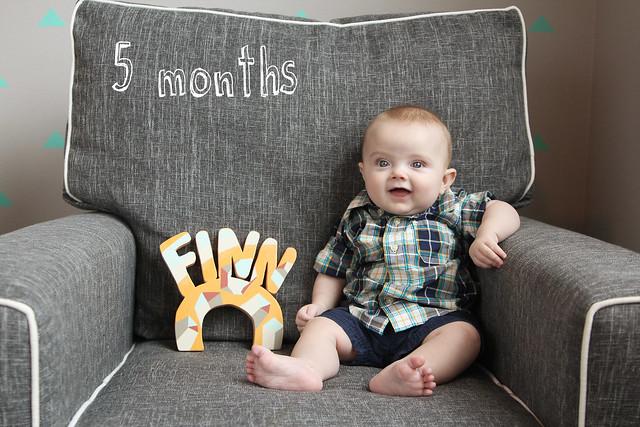 Finn at 5 months