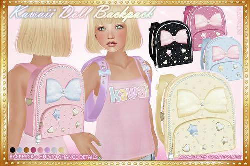 :*BABY*: Kawaii Doll BackPack