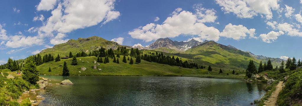 Alp See auf der Alp Flix Panorama