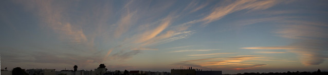 Sunset Over The Pacific; August 16, 2015  POV 26th Avenue, San Francisco
