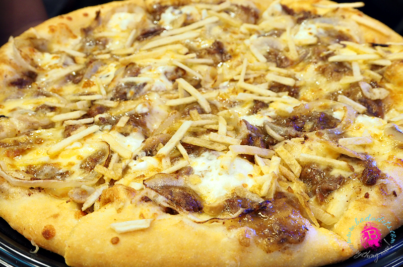 cheesy steak and fries overload pizza