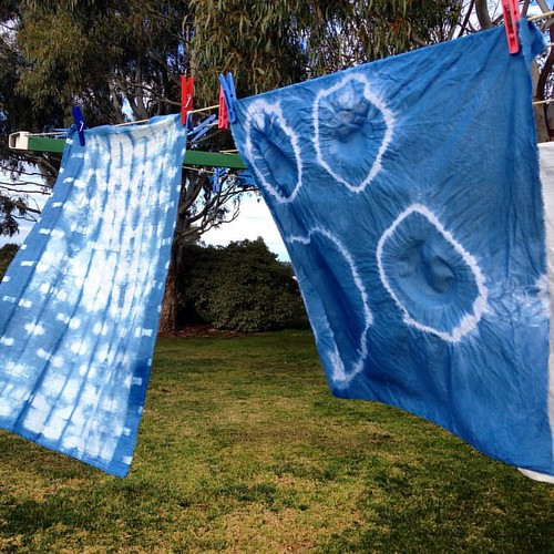Shibori and indigo at craft camp