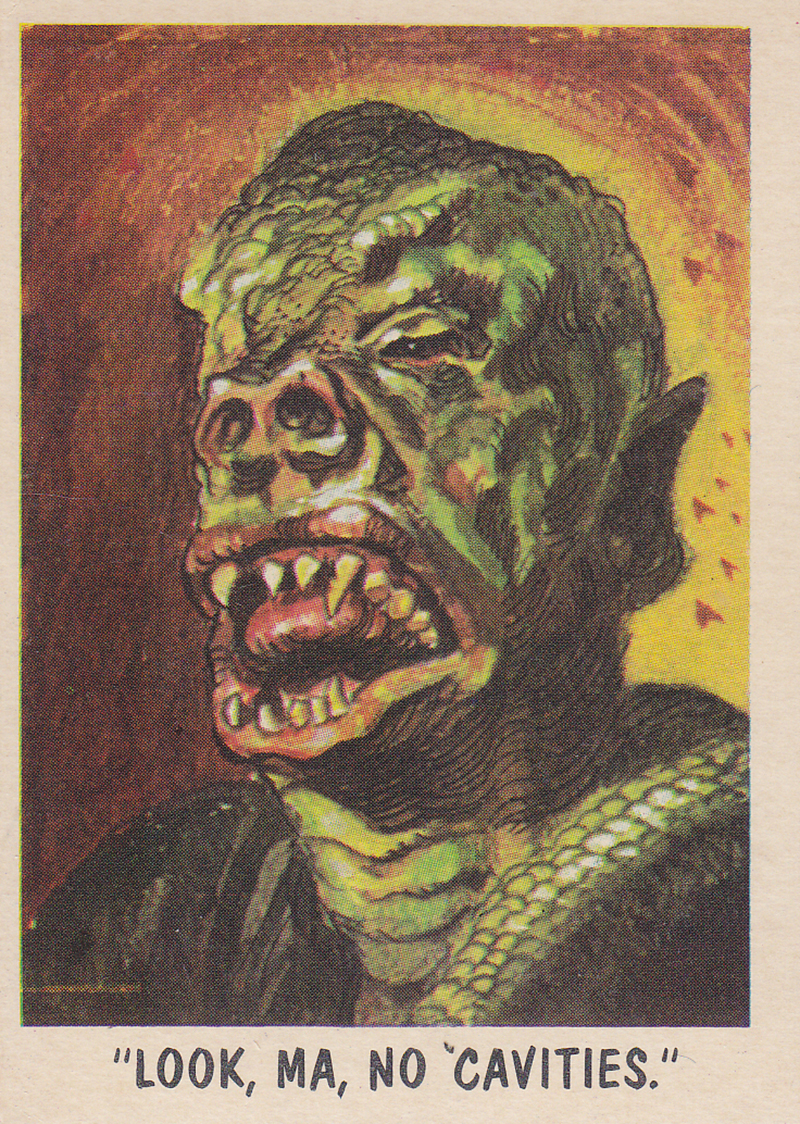 """""""You'll Die Laughing"""" Topps trading cards 1959,  illustrated by Jack Davis (36)"""