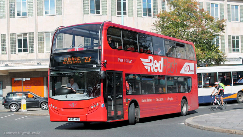 Plymouth Citybus 518 WG63HHW