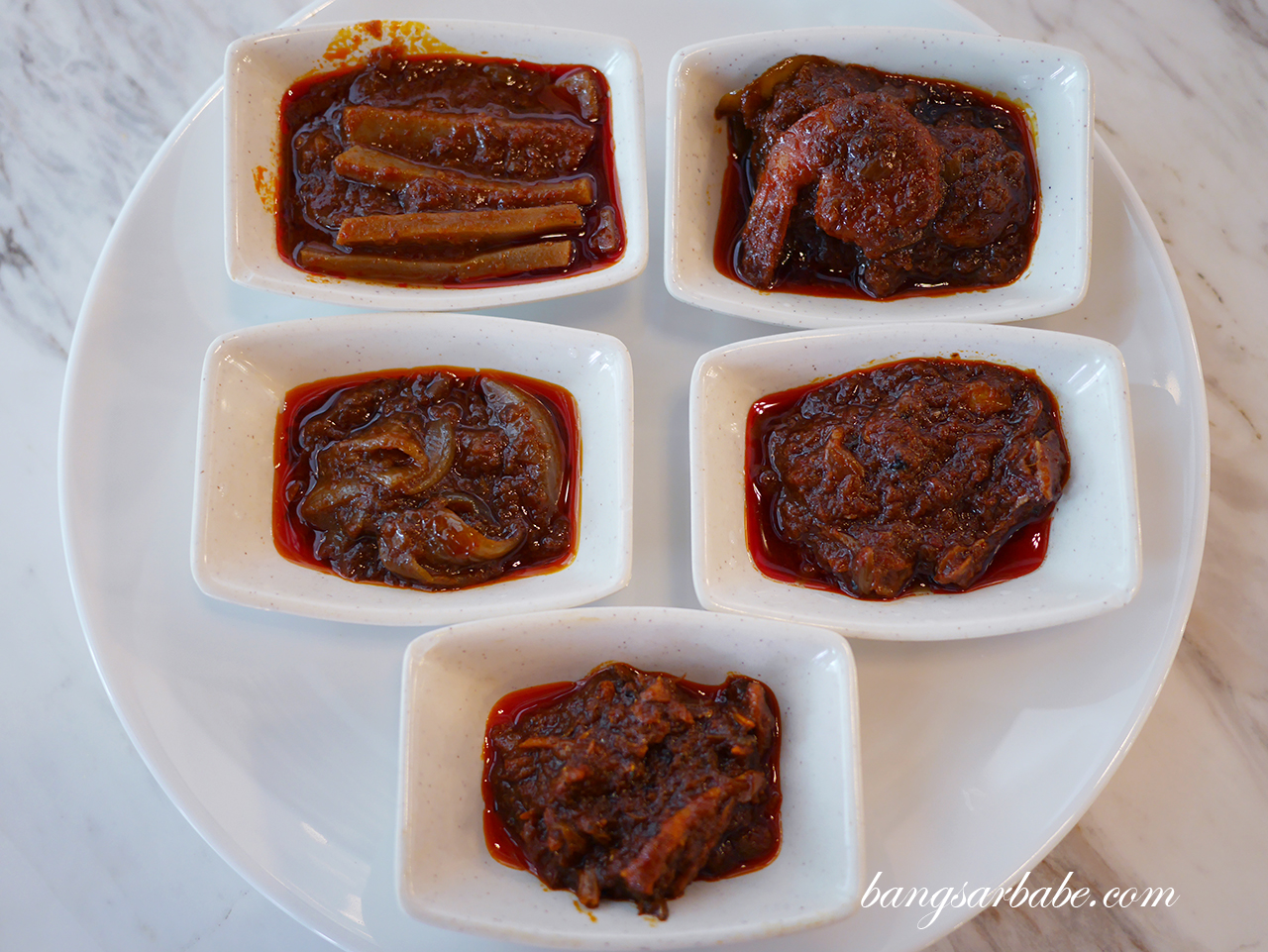 Assorted Sambal