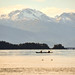 Two Kayakers with Chilkat Range by ≡ Gillfoto