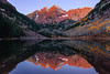 Sunrise at Maroon Bells-Snowmass Wilderness, Colorado by brianstowell