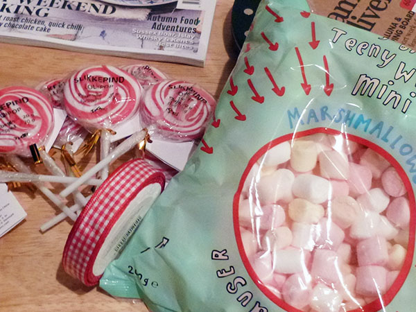 marshmallows and lollipops