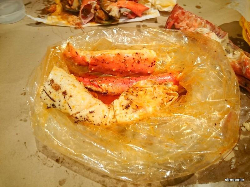 King Crab Legs seafood boil