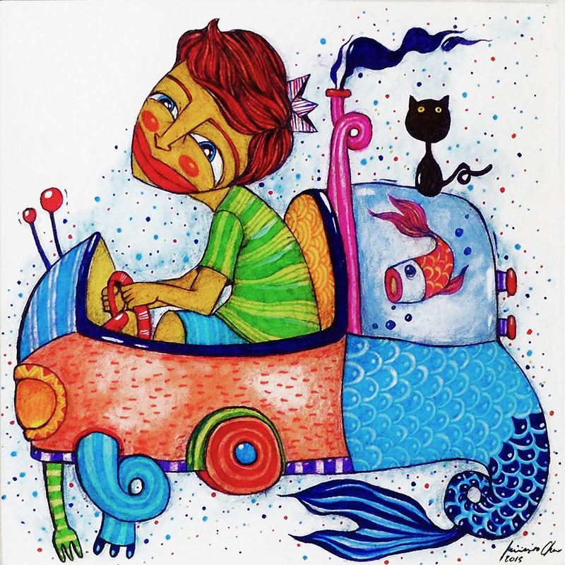 Trak-trakan kong malupit. Sari-sari, dikit-dikit. by Luis Chua at INK Fest 2015 Fullybooked Ang Ilustrador ng Kabataan