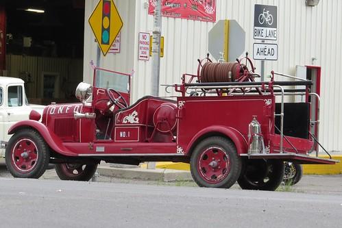 vintage fire colorado engine firetruck sanluisvalley firedepartment delnorte firemansbbq
