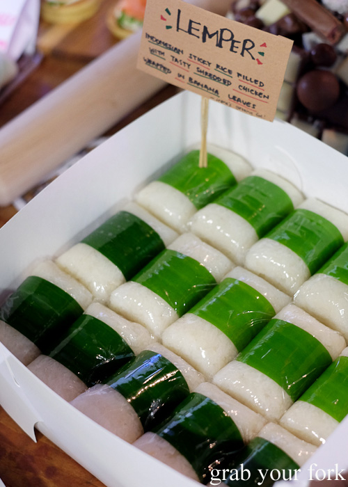 Lemper at the Sydney Food Bloggers Christmas Party 2015 #sydfbxmas2015
