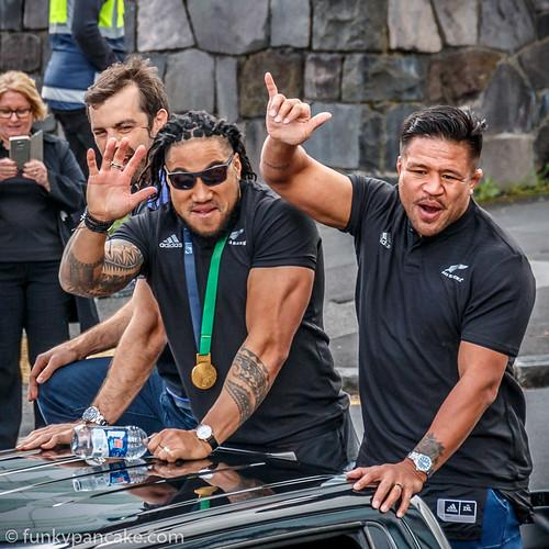 All Blacks Victory Parade Auckland 2015