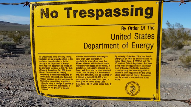 Nevada Test Site Sign