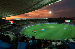 Adelaide Oval - The sky is red, and the heart bleeds blue.