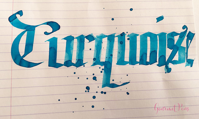 Ink Shot Review Montegrappa Turquoise Ink @GouletPens @TheMontegrappa (6)