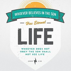 Whoever believes in the Son has eternal life, but whoever rejects the Son will not see life, for God's wrath remains on them. John 3:36 NIV