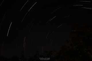1st time   Star trails Stack with 90 photos