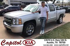 Congratulations Ronal on your #Chevrolet #Silverado 1500 from Ali Asif at Capitol Kia!