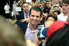 Donald Trump, Jr. with supporters