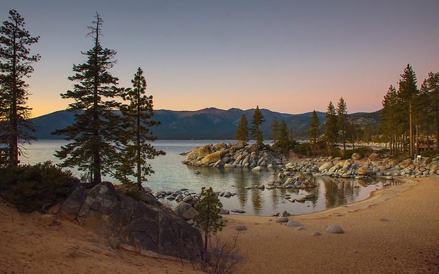 dusk at Sand Harbor, Nikon D7200, AF-S DX Nikkor 18-300mm f/3.5-5.6G ED VR