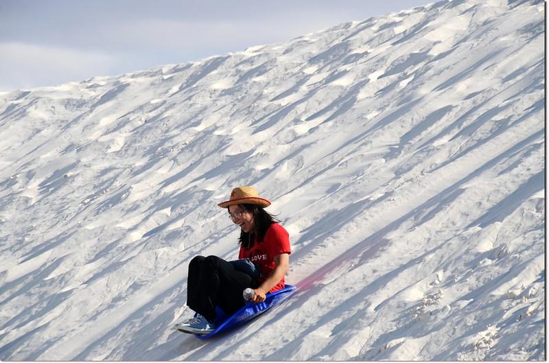 Sledding at White Sands National Monument  6