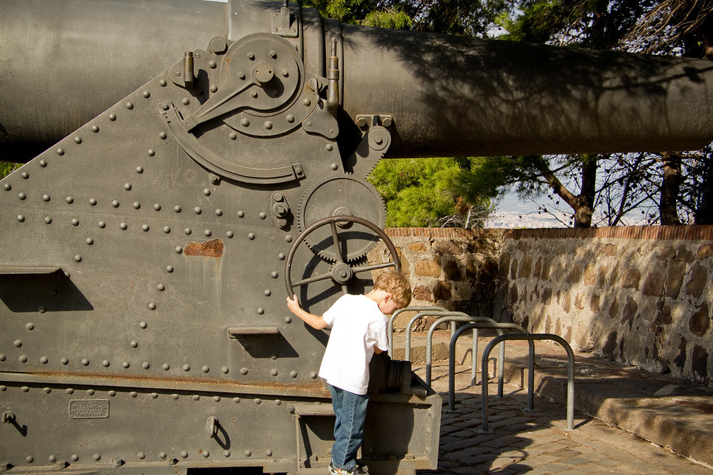 Cannons on Montjuic
