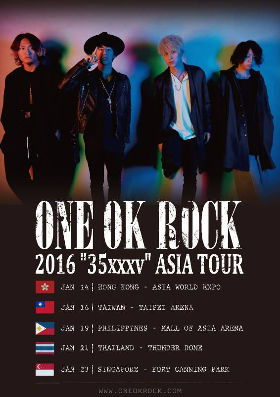 ONE OK ROCK Announces Asia Tour and First Manila Gig!