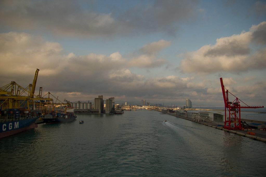 Cruise ship sailing from Barcelona