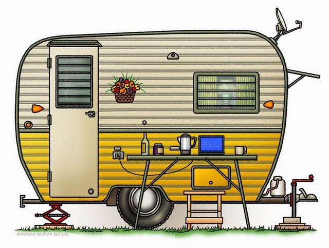 Whimsical Aloha Travel Trailer