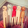 kiddo is painting some clothespin dolls to look like the #futurama cast: #leela #fry #drzoidberg #professorfarnsworth #hermes #lol #mykidisawesome @osi_