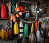 Inside The Buoy Shack, Peggy's Cove