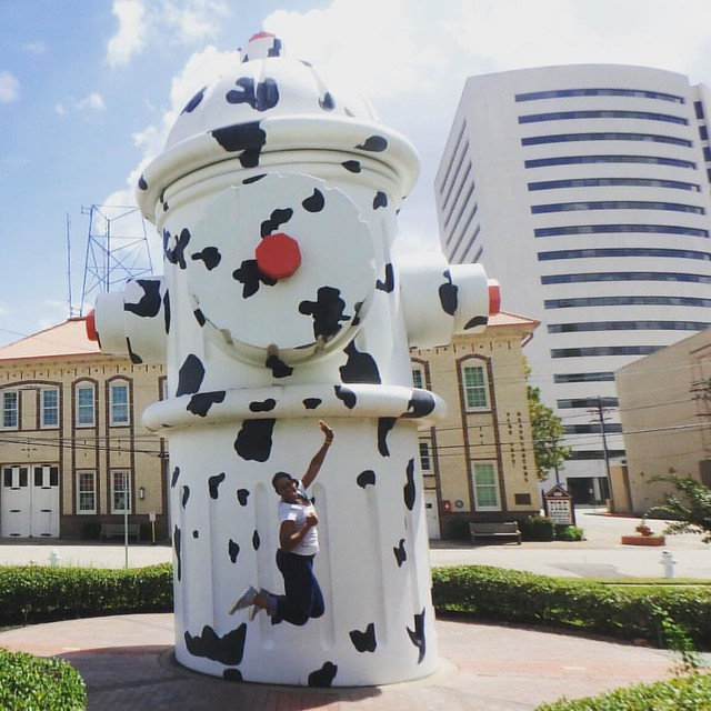 When you get bored and you need something to explore, why not visit the 3rd largest fire hydrant? #staycation #instatravel #sightseeing #beaumont #setex