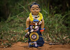 Benin, West Africa, Ouidah, carved wooden figure made to house the soul of a dead twin by Eric Lafforgue