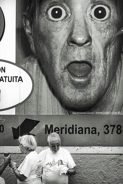 Asombro en la Meridiana de Barcelona - 11-09-15, o el señor del bocadillo.