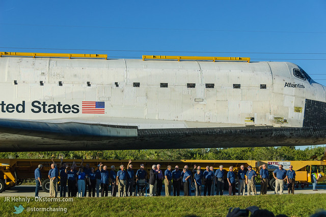 Fri, 11/02/2012 - 17:31 - Upon arriving at the Kennedy Space Center Visitor Complex, Atlantis was joined by a large group of astronauts representing all previous US space programs. - November 02, 2012 5:31:05 PM - , (28.5258,-80.6823)