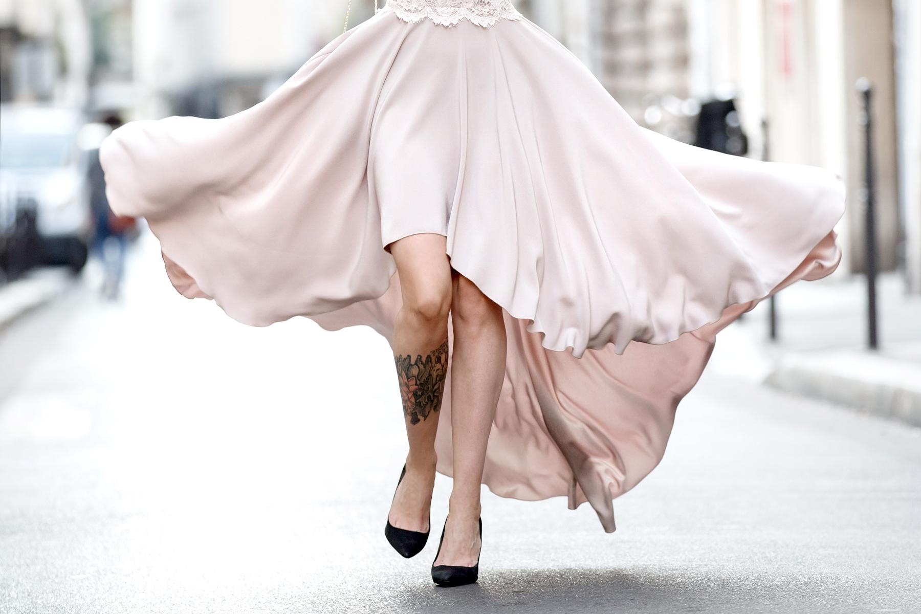 ewa herzog lace dress pastel rose paris le marais pfw fashion week ss16 ricarda schernus cats & dogs blog 5