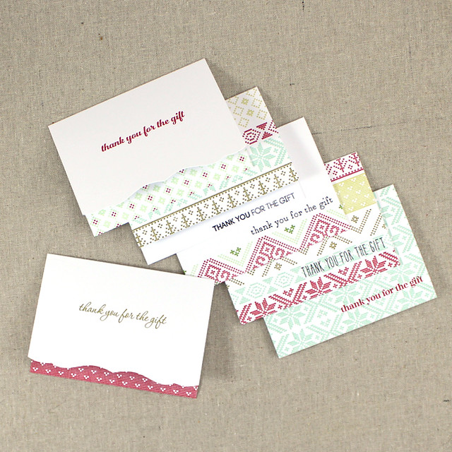 Christmas Thank You Notes Full Set