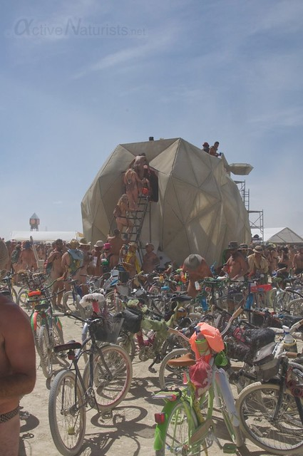 naturist naked pub crawl 0006 Burning Man 2015, Black Rock City, Nevada, USA