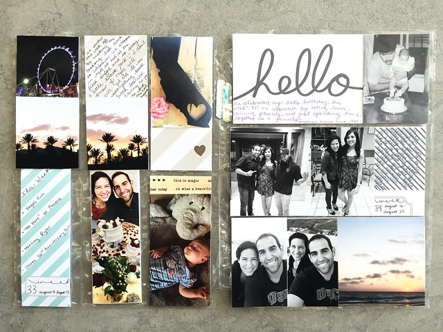 jasmine's pocket scrapbook / project life book : august