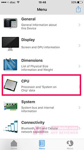 Check CPU iPhone