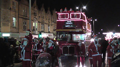 Weston Carnival 2015 - First Bus Infested By Santas!